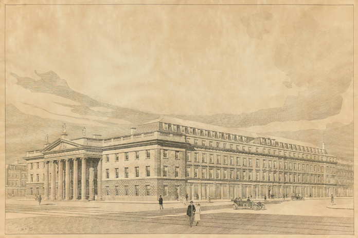 General Post Office Dublin 13 - Perspective View (1924)