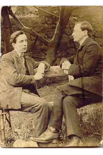 Patrick Pearse e William Pearse nei giardini dell'Hermitage