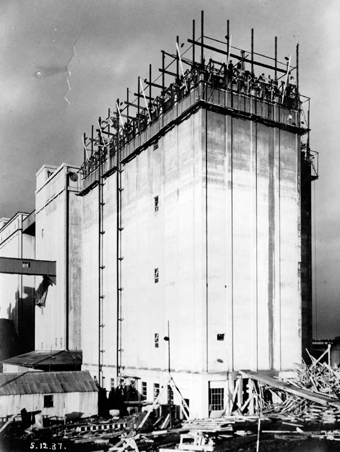 Rank Silo at Shannon Mills, Limerick 03 – Construction 02