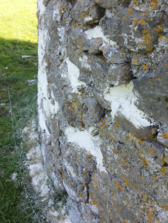 The Tower on Mullagh Hill, Tullamore 06 - Repaired Stone Work
