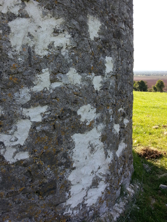 The Tower on Mullagh Hill, Tullamore 07 - Repaired Stone Work