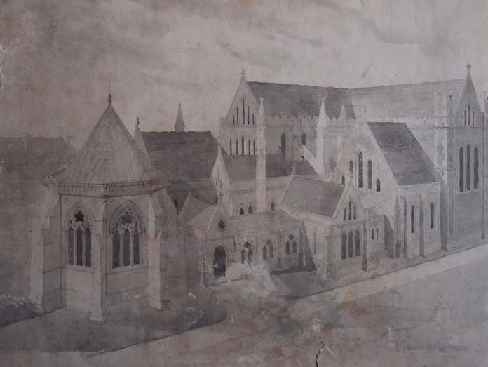 Saint Patrick's Cathedral, Dublin 03 – Richard Cromwell Carpenter Drawing