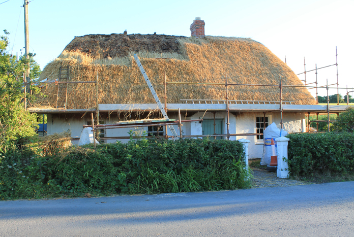 Thatched House, Ballygarran, Wexford 12 - Thatching In Progress